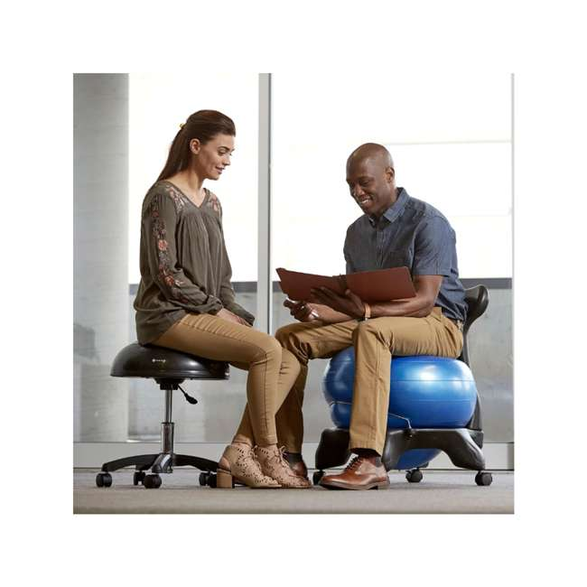 05-62677 Gaiam Balance Ball Chair Stool, Half-Dome Stability Ball Adjustable Swivel Chair 3