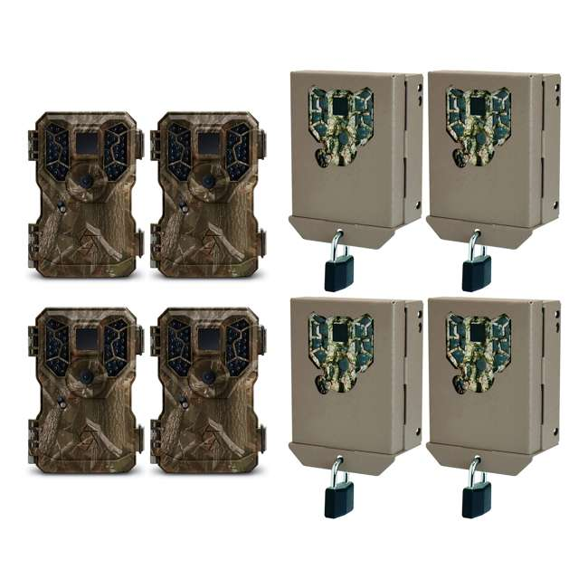 4 x STC-PX36NG + 4 x STC-BBPX Stealth Cam PX36NG 8MP No Glo Game Camera & Security Box (4 Pack)