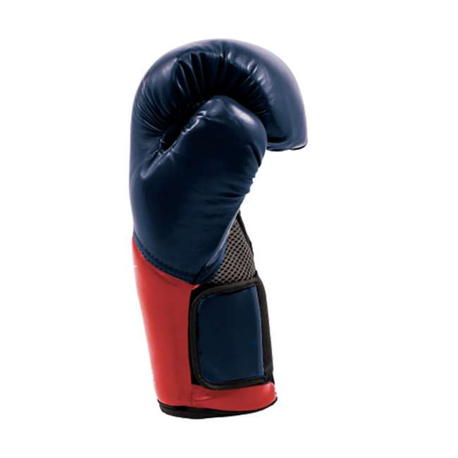 P00001204 + 4455-3 Everlast 16 Ounce Boxing Gloves, Navy/Red & Hand Wraps (3 Pack) 4