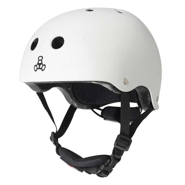 T8-3922 Triple 8 Lil 8 White Glossy Toddler Bike & Skate Helmet, 5T