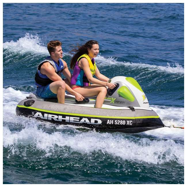 AHXC-02-U-A Sportsstuff Xcelerator 2 Person Water Lake Ocean Towable Ride On Tube (Open Box) 4