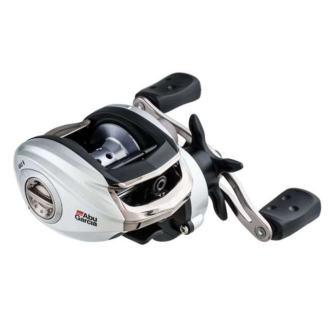 SMAX3-L-C Abu Garcia SMAX3-L-C Silver Max Low Profile Left Handed Baitcast Fishing Reel