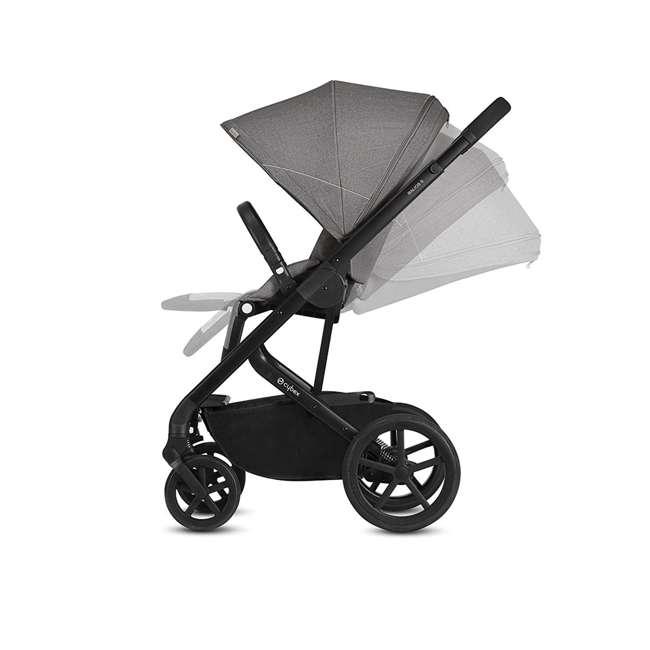 518001059-U-A Cybex Balios S 3 in 1 Folding Stroller, Lava Stone Black (Open Box) 3