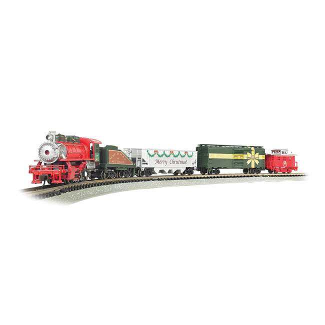 BT-24027-U-C Bachmann Trains Merry Christmas Express Electric Model Train Set (For Parts)