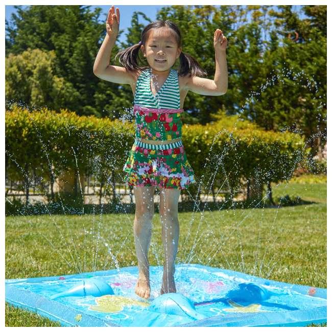 WMO-61850 Wham-O Backyard Sea Creature Printed Children's Splash Pad with Inflatable Rim 5
