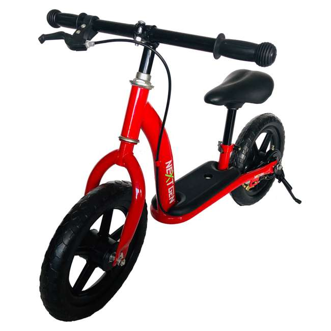 12BALBK-R NextGen 12 Inch Childrens Toddlers Kids Balance Bike Bicycle with Kickstand, Red 1