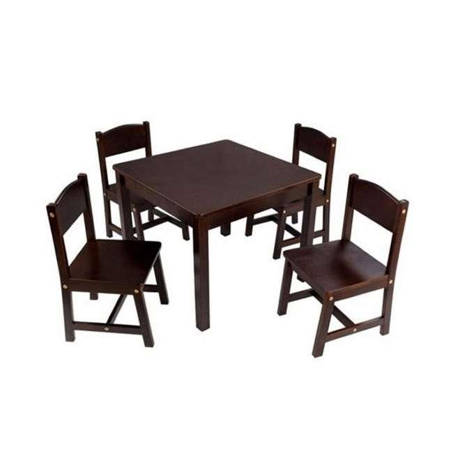 21453-U-A KidKraft Farmhouse Espresso Wood Table & Four Chair Set (Open Box)