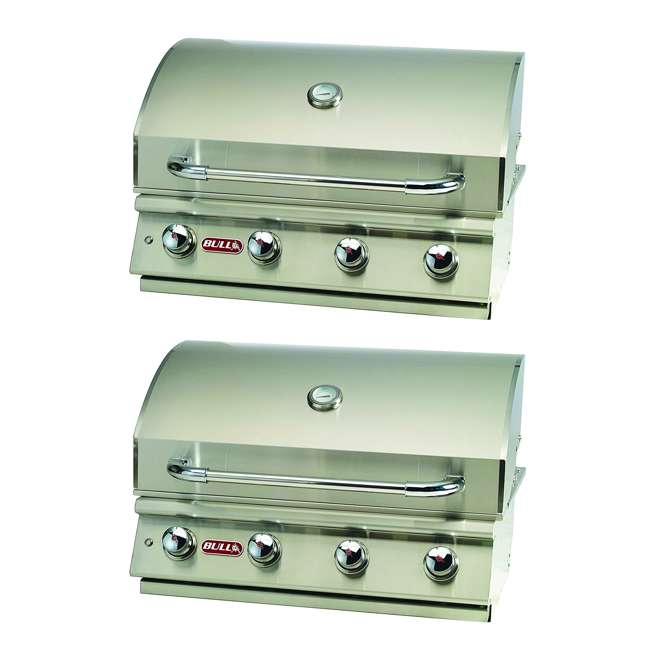 BOP-87048 Bull Lonestar 4 Burner Stainless Steel Gas Bbq Grill Head, Liquid Propane (2 Pack)