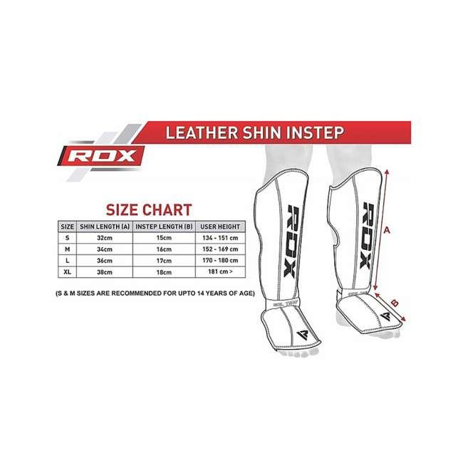 SGL-T4W-M RDX T4 Leather MMA Child Shin Instep Guards, Medium 4