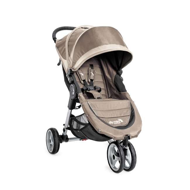 1959183 Baby Jogger City Mini Folding Travel Stroller, Sand/Stone