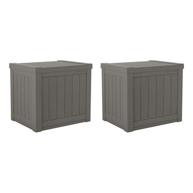 SS500ST Suncast SS500ST 22 Gallon Small Resin Outdoor Patio Storage Deck Box (2 Pack)