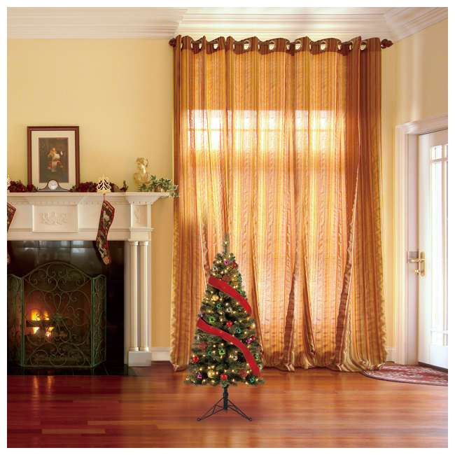 TV50M3AVBL00 Home Heritage Cashmere 5 Foot Artificial Corner Christmas Tree with LED Lights 4