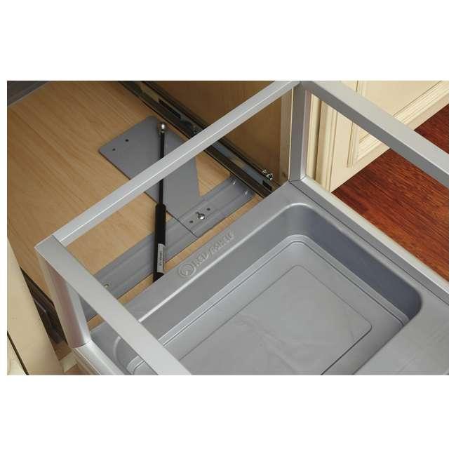 5149-18DM-211 Rev-A-Shelf 5149-18DM-211 Double 35 Qt Pullout Cabinet Trash Can w/ Rev-A-Motion 1