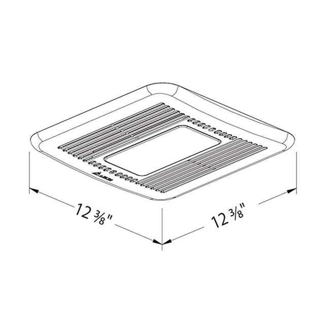 SIG110LED Delta BreezSignature SIG110LED Energy Star Quiet Bathroom Exhaust Fan with Light 4