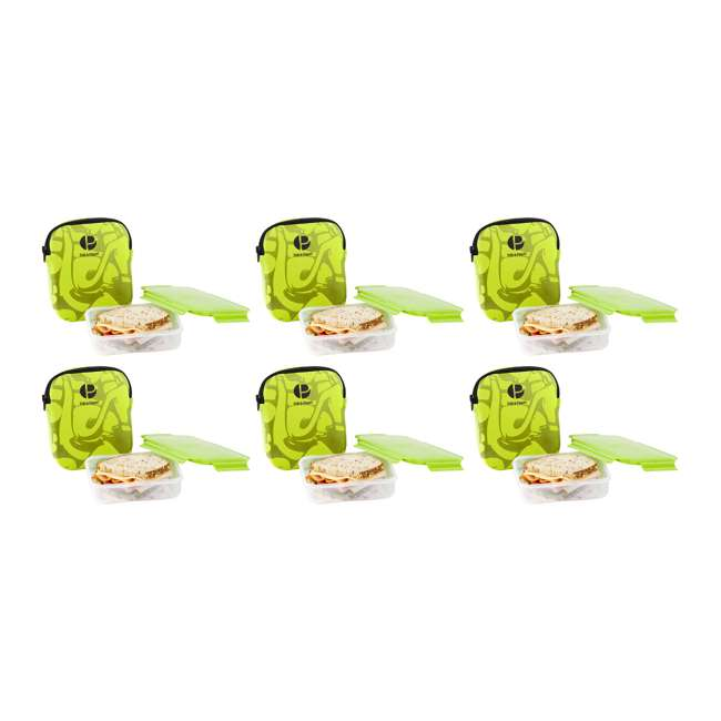 6 x S3004 Life Story Sandwich Pack and Carry Case, Green (6 Pack)