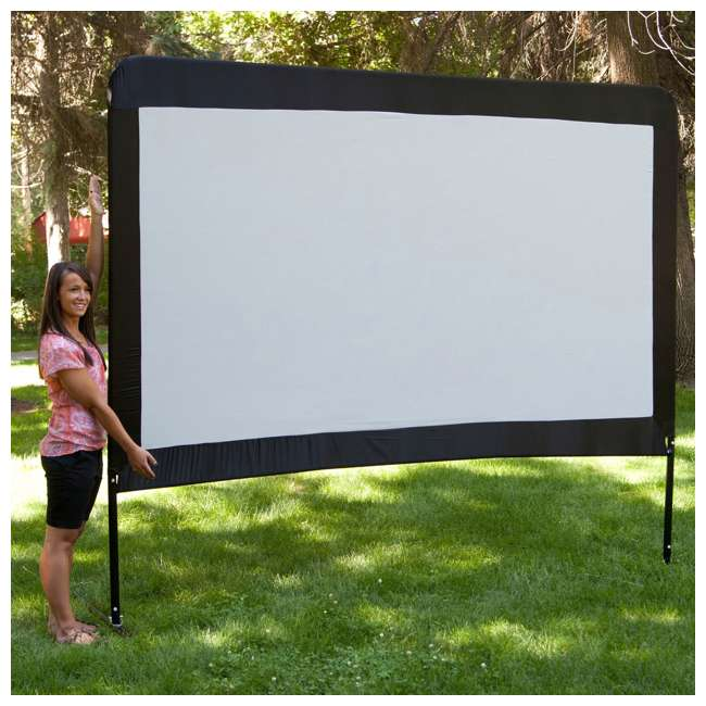 """CC_OS120-U-C Camp Chef Entertainment 120"""" Backyard Movie Projection Big Screen (For Parts) 4"""