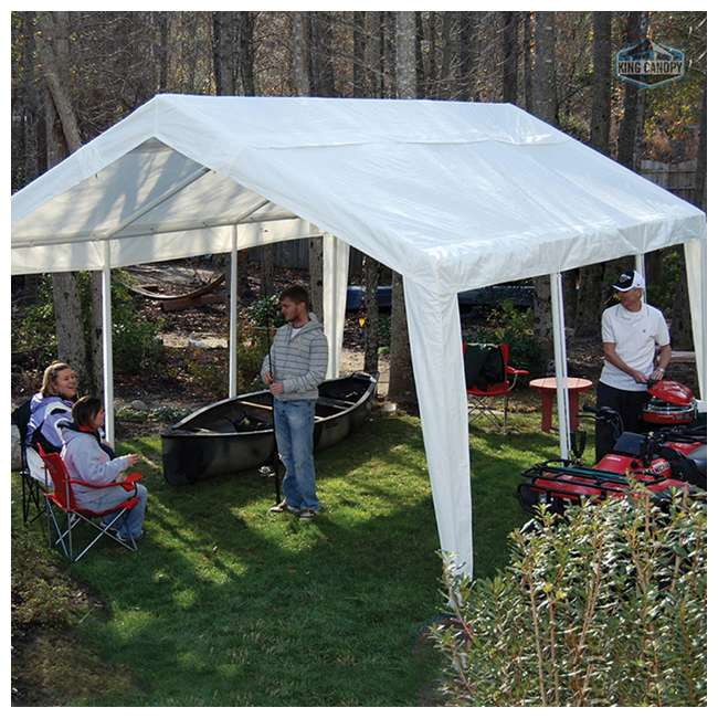 EX1220 King Canopy 12 x 20, 20 x 20 Foot Universal Canopy White 5