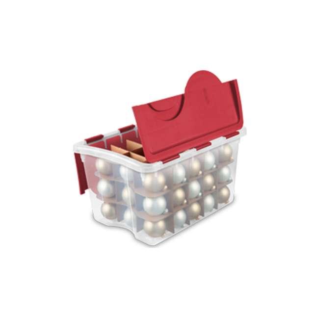 12 x 19096606-U-A Sterilite 48 Quart Holiday Christmas 45 Ornament Storage Box (Open Box)(12 Pack) 4