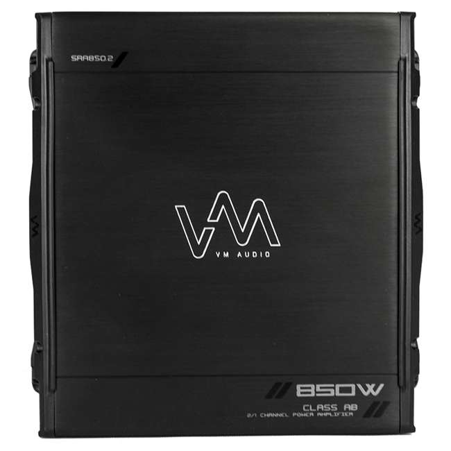 40TCWS104 + VM-SRA850.2 + VM-SRSK4B Kicker TCompS 40TCWS104 10-Inch 600W Loaded Subwoofer with Box with Amplifier with Amp Kit 5