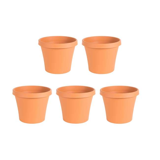 5 x 50012C Bloem Terra Gardening Flower 12 Inch Resin Pot Planter, Terra Cotta (5 Pack)