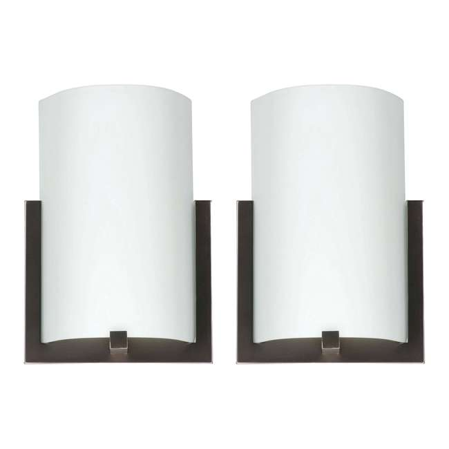 PLC-FL0003870 Philips Forecast 12-Inch Bow 3-Light Wall Sconce, Bronze (2 Pack)