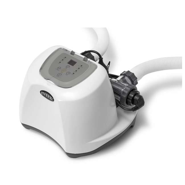 26645EG + 26669EG Intex Pool Sand Filter Pump w/Krystal Clear Saltwater System 2