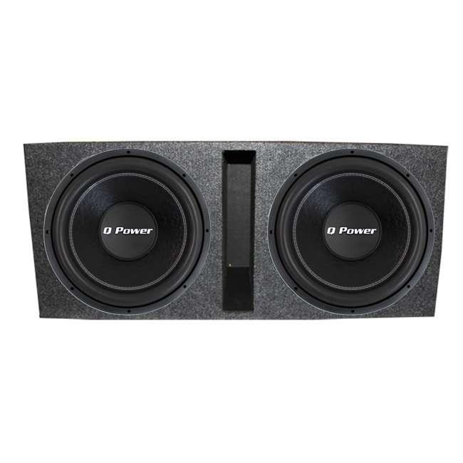 """QPF15 + QBASS15 2) Q-POWER QPF15 15"""" 2200W Deluxe DVC Subwoofers + Vented Enclosure"""