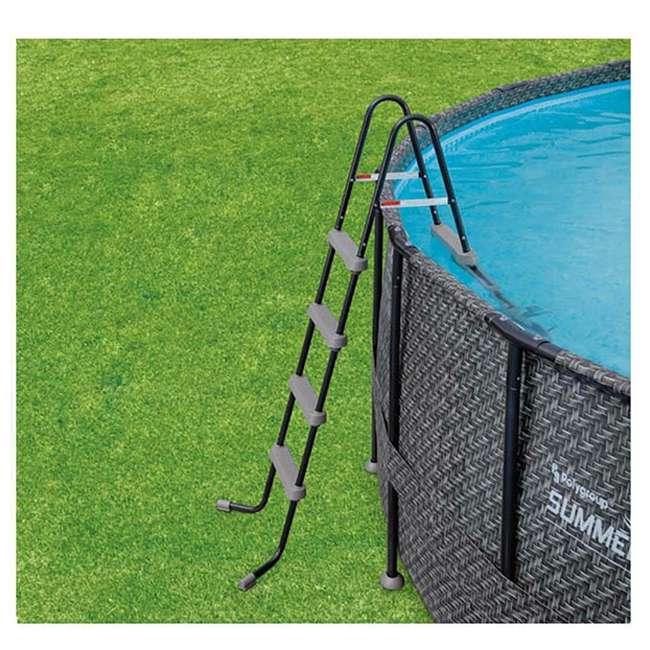 """P4A024521167 + 4 x K10423D00167 + KF0226B00167 Summer Waves 24' x 52"""" Pool Set + Corona Pool Floats (4 Pack) + Floating Cooler 4"""