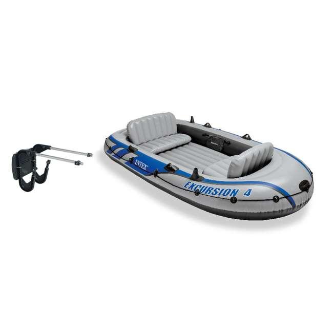 Intex Excursion 4 Inflatable Boat Set Motor Mount Kit