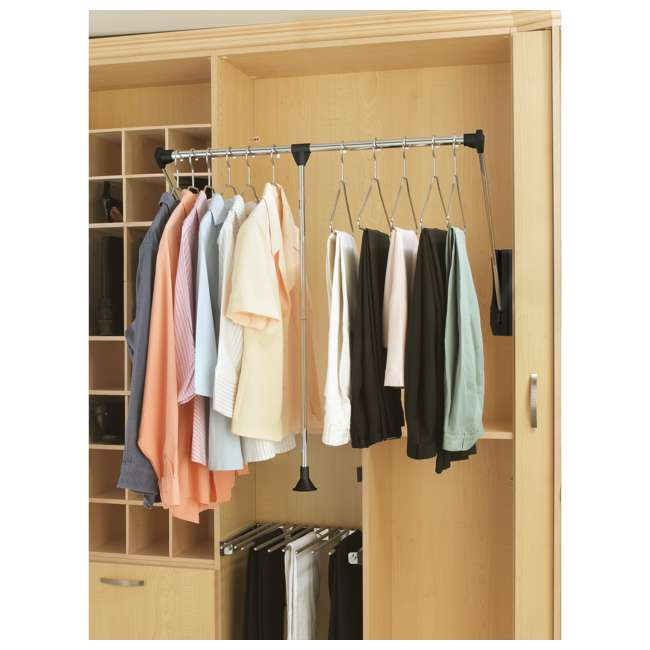 CPDR-3548 Rev-A-Shelf CPDR-3548 35-48 Inch Adjustable Width Steel Closet Pull Down Rod 4