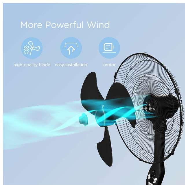 "FS45-18UR PELONIS FS45-18UR 18"" 3-Speed Oscillating Pedestal Fan with LED Display, Black 5"