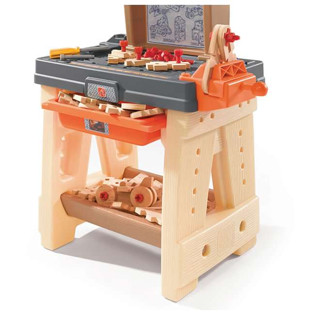 762700-U-A Step2 Pretend Play Toy Wood Working Tools Real Projects Workbench (Open Box) 4
