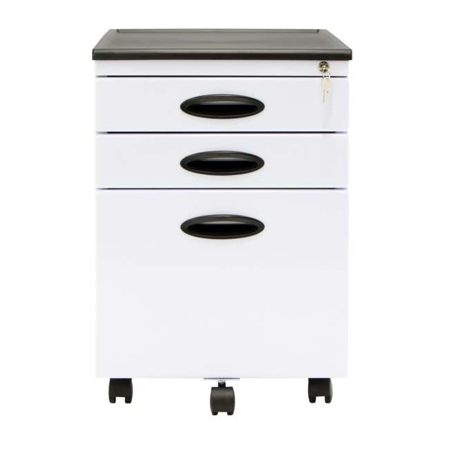 4 x STDN-51103BOX Calico Designs Office Storage Mobile File Cabinet (4 Pack) 3