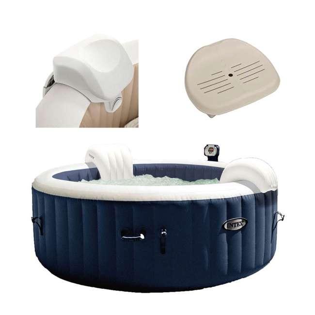 28505E + 28405E + 2 x 28502E Intex PureSpa Inflatable Hot Tub w/ Foam Headrests (2 Pack) and Removable Seats (2 Pack) 2