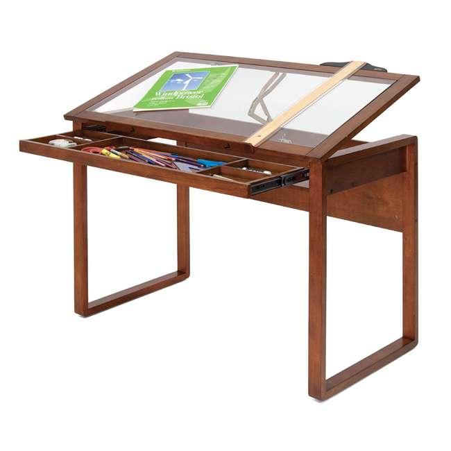 STDN-13280 Studio Designs Wooden Glass Top Ponderosa Drafting Desk (2 Pack) 6