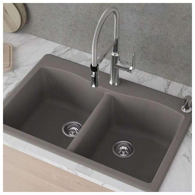 KGD-52GREY Kraus Forteza Dual-Mount Granite Kitchen Sink (2 Pack) 2