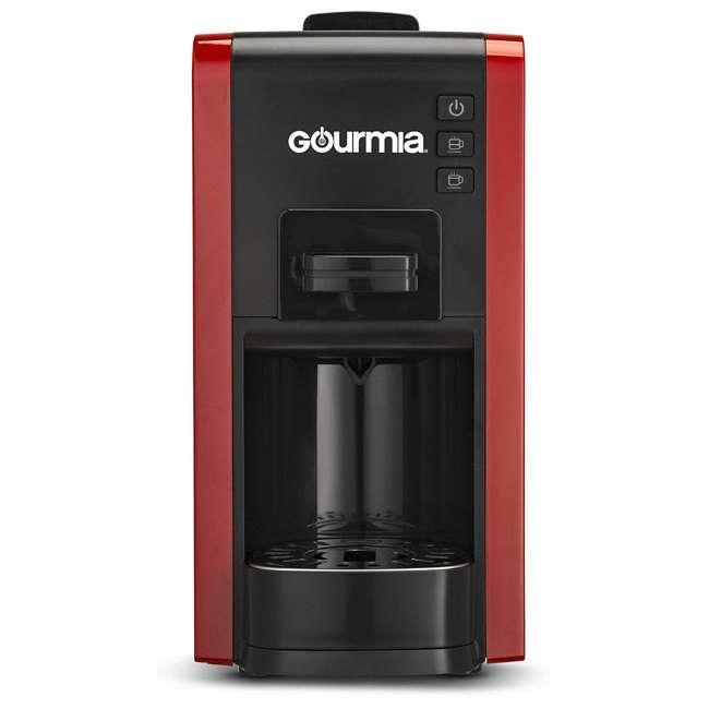 GCM7000R Gourmia GCM7000R Multi Capsule Espresso Coffee Machine with Pod Cartridges, Red 1