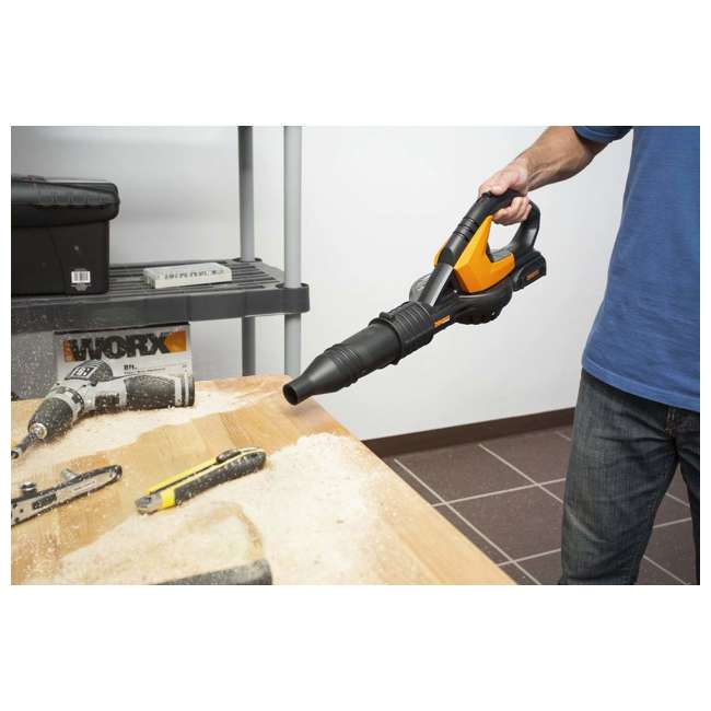 Worx Wg175 With Wg575 Cordless Grass Trimmer Edger Blower