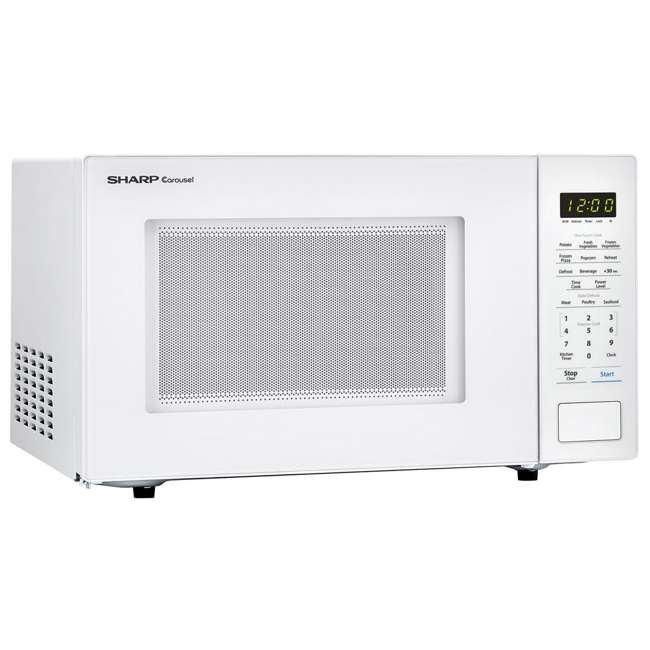 SMC1131CW-RB Sharp Carousel 1.1 Cu Ft Countertop 1000W Microwave Oven (Certified Refurbished) 3