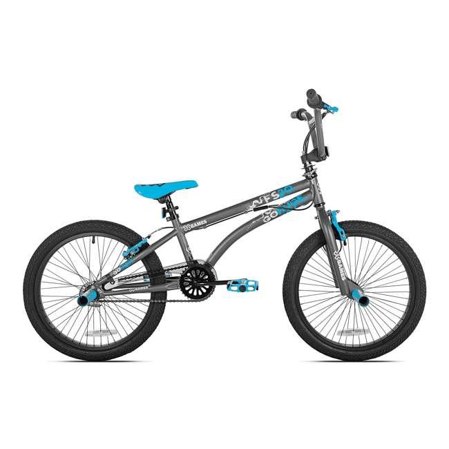 82028-U-A X Games FS20 Single Speed 20 Inch Wheel BMX Bike, Dark Grey (Open Box)