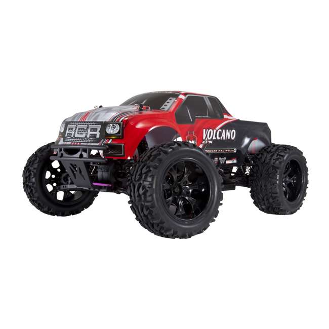 4 x VOLCANOEP-94111-RedBlack-24 Redcat Racing Volcano EPX 1:10 Scale RC Monster Truck, Red (4 Pack) 2