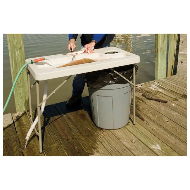 CCC-300 Coldcreek Outfitters Fillet Station Fish Cleaning Portable Outdoor Table w/ Sink 11