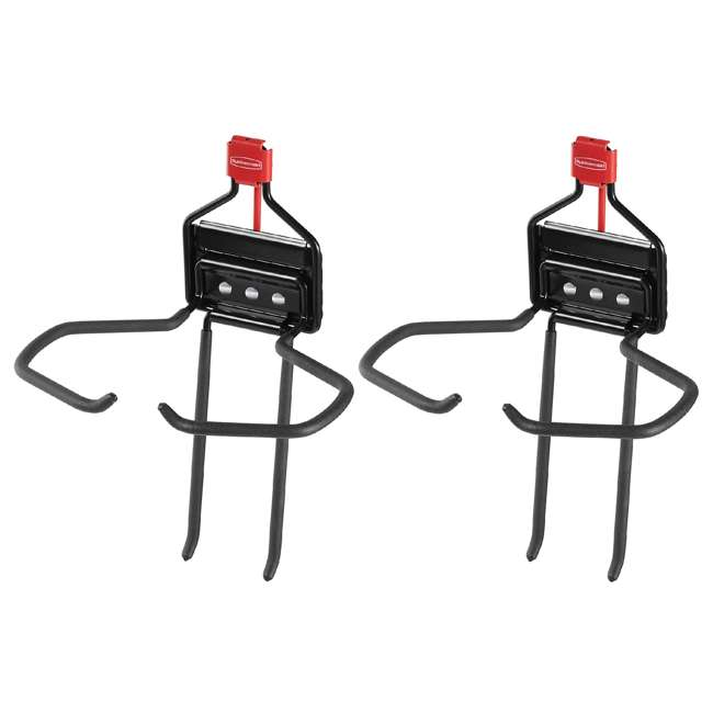 2024655 Rubbermaid Storage Shed Space Saving Large Mounted Power Tool Holder (2 Pack)