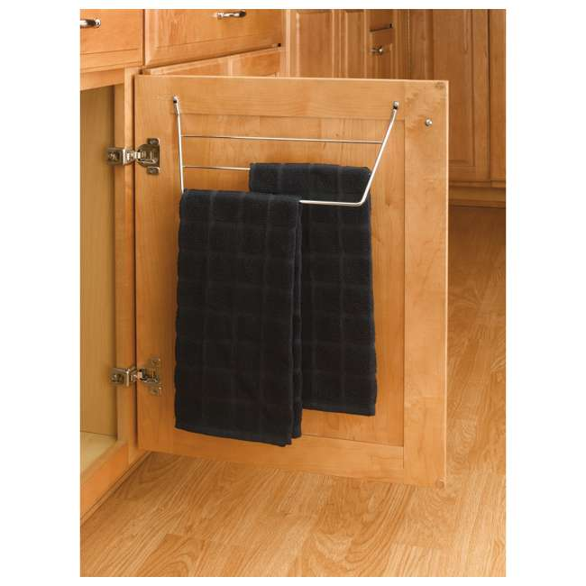 563-32 C Rev A Shelf 563-32 Kitchen Vanity Cabinet Door Mount Dish Towel Holder, Chrome 1