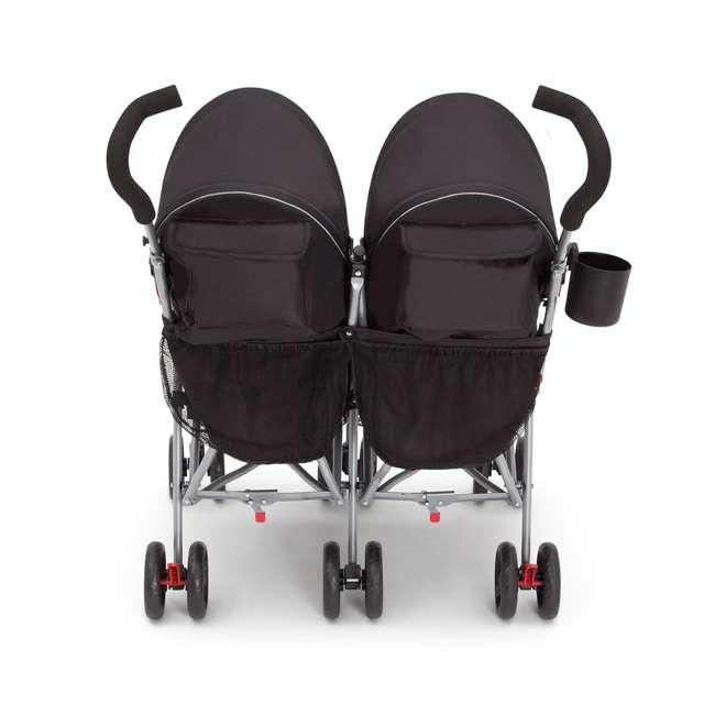 11709-2246 Delta Children LX Plus Side x Side Lightweight Double Stroller, Red Triangular 4