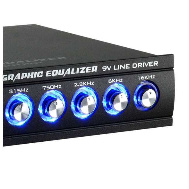 4 x EQ-909X Audiopipe EQ-908X 9-Band Parametric Car Audio Equalizer (4 Pack) 4