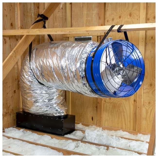 QC-CL-7000-U-D QuietCool Classic 7000 3470 Sq. Ft. Attic Cooling Ventilation Fan (Damaged) 1