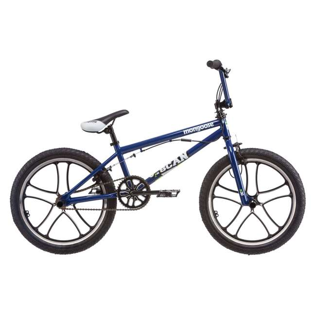 "R1360SRA Mongoose Scan R30 20"" Freestyle BMX Bike Boys Bicycle with Pegs - Blue 
