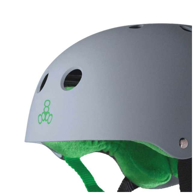 12 x T8-1077 Triple 8 Hardened Skate Helmet with Sweatsaver Liner, Carbon - Medium (12 Pack) 2