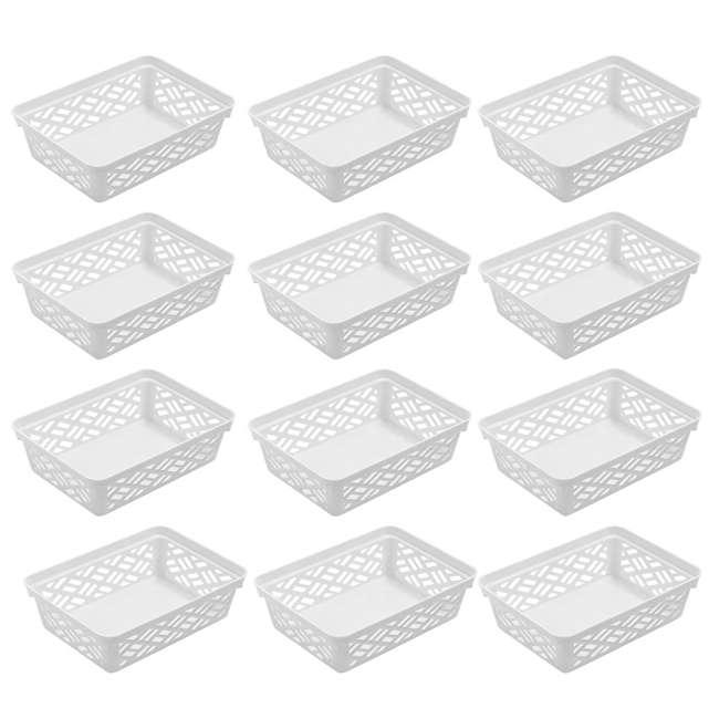 12 x FBA32133 Ezy Storage 32133 Small Brickor Plastic Household Organization Basket, (12 Pack)